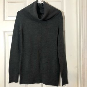 French Connection Grey Cowl Neck Sweater Medium